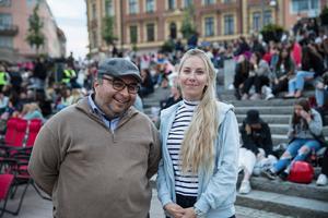 Lena Raattamaa, event och marknadsansvarig för Södertälje City och Eduardo Morris, chef för Södertälje stadsscen.