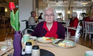 Karin Frideborg Liljenwall vill ha sällskap när hon äter.