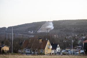 Även i Skönviksbacken är det snöfritt.