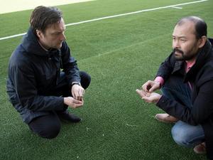 Anders Lilja, ordförande, och Patrik Åsell, ledamot för Kungsnäs FC.