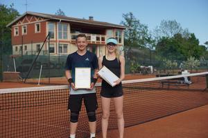 Årets Mottagare av Carl-Henrik von Platens stipendium  är Lisa Sohlberg och Rasmus Båge. Foto: Felix Wallier