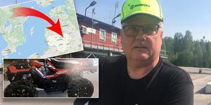 Karl-Göran Alfredsson kunde spåra sin stulna fyrhjuling. Bild: Leif Olsson, polisen & Google Maps