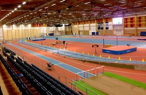 IFU Arena består även av en friidrottshall. Den rymmer drygt 800 åskådare och har gjort att friidrotten fått ett uppsving.