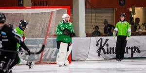 Ungefär där landade den, straffen som Jesper Hvornum slog rakt på Henrik Kjellsson.