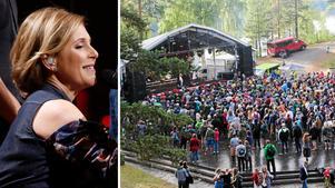 Helen Sjöholm ser fram emot att komma tillbaka till Näsåker och uppträda. Foto: Montage