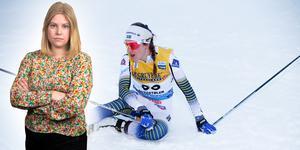 Ebba Andersson under förra helgens tävling i Beitostölen, då hon precis som idag hamnade på en fjärdeplats. Något hon trots allt kan vara nöjd med, tycker sportens Camilla Westin, som listar fem punkter efter dagens 10 km fritt i Davos. Bilden är ett montage.