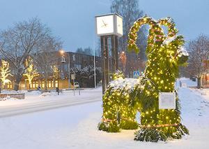 Så här såg julbocken ut i centrala Hällefors ut för något år sedan.