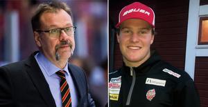 Dackell lyfter på hatten för Brynäs tidigare målvaktstränare. Foto: Bildbyrån/Daniel Sandström.