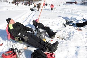 Den snörika vintern 2018 kan vi också minnas med många härliga dagar ute i skidbacken, skoterspåret eller här under helgens ST-napp på Sidsjön! Fotodatum: 2018-03-18