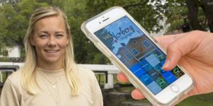 Med hjälp av en app ska besökare i Norberg få ta del av Frida Hansdotters historia - berättad av henne själv. Foto: Johanna Sandberg-Kehrein/Lova Jappevik