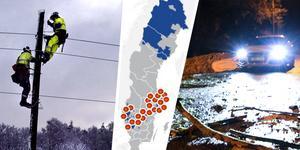 Bild: Roger Larsson, Johan Nilsson/TT, Vattenfall-karta (bilden är ett montage)
