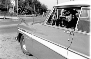 Börje Erlandsson i sin DeSoto några år in på 1960-talet.