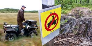 Länsstyrelsen får in anmälningar om sönderkörda stigar och myrar i Hälsinglands naturreservat.