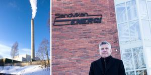 Ska bostäderna i Sandviken värmas med hetvatten från Gävle? Beslut väntas i början av nästa år, enligt Niclas Reinikaiknen, vd i Sandviken Energi.