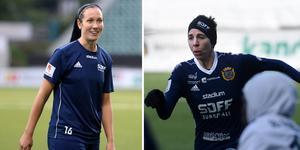Ida Markström och Sarah Elnicky får ta emot SDFF:s priser.