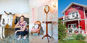 Anne-Christine Nyberg bakar, lagar mat, odlar, renoverar, arrangerar kurser, ystar och sköter djuren. En gång i månaden är det också afternoon tea, som brukar vara uppskattat och fullbokat.
