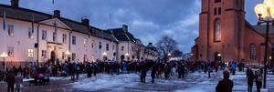 Såhär såg Stora Torget ut mitt i invigningsceremonin.