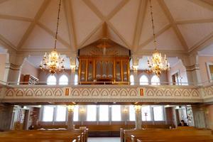 Kyrkorgeln är från 1987 och byggd i Gammelstad. Foto Seved Johansson