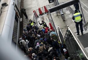 Flyktingar i Malmö 2015.