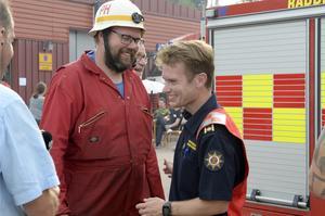 Glada miner mitt under brandveckan med Pierre Hedin och Johan Szymanski.