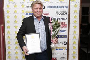 Mikael Teurnberg, Rospiggarna, fick ta emot ett hederspris på galan.