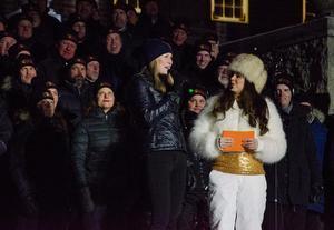 Helena från invigningen av VM i skidskytte i östersund förra vinter. Foto: Arkiv