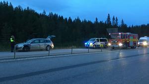 Räddningstjänst, ambulans och polis var på platsen.
