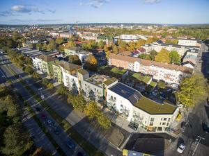Bygget i kvarteret Runstenen vid Södra Kungsgatan i Gävle har medverkat till att byggföretaget Prenova i Sandviken växt så mycket under de senaste åren.