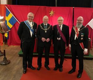 Personerna på bild är från vänster. (OSSM) Thommy Brännström. (M) Karl-Gunnar Karlsson. (XM) Sören Molander. (M) Hans Söderström Righeim Gävle
