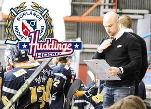 Strax nedsläpp i den första matchen mellan Borlänge–Huddinge.