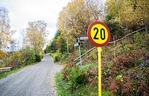 Grusväg i Sandviken i Enhörna.