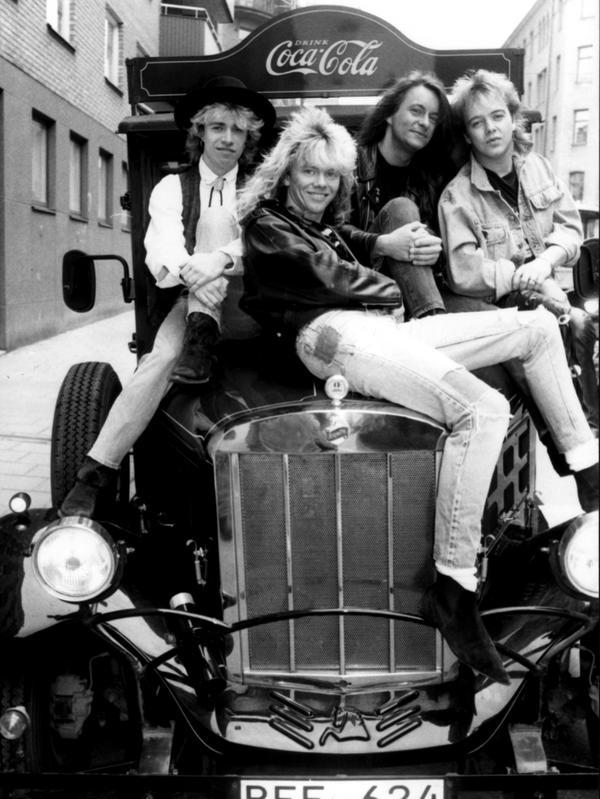 Sha-Boom, från vänster: Peo Tyren, Dag Finn, Hasse Lind, Bobby Andersen.