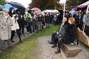 Centerpartiets partiledare Annie Lööf var en bland många deltagare under invigningsceremonin i oktober 2012.