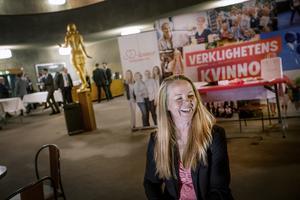 Regionrådet Elin Jensen från Östansjö, utanför Hallsberg, har all anledning att vara nöjd. Partiet har rekordstora siffror i opinionen och hon föreslås bli andra suppleant i partistyrelsen.