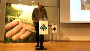 Fredrik Melin brinner för äganderätt, viltförvaltning och skogsbruk. Foto: Sofia Weimarck