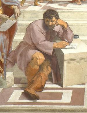 Raphaels målning från 1500-talet av den antike filosofen Herakleitos,
