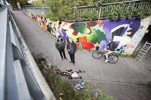 Rolfcarlwerner (t.v.) tycker att det är spännande att street-kulturen får växa ytterligare i storlek och att fler kan få del av och uppleva konstformen.