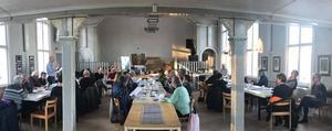 Ett välbesökt årsmöte och upptakt på Långheds bygdegård söndagen den 24 februari bådar gott inför framtidens arbete och aktiviteter. Fotograf Anita Johansson
