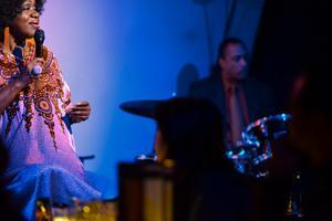Jazzsångerskan Sharón Clark. Foto: Pressbild