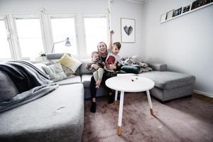 Anette Bodén och hennes sambo flyttade hem till Sollefteå för att skapa trygghet för sin familj.