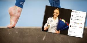 Två guld och ett brons blev det för Jonna Adlerteg under SM-veckan. Foto: Tomas Oneborg/TT/Skärmdump från Instagram
