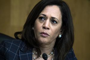 Vice presidentkandidaten Kamala Harris var ett av de rätta svaren i vuxentävlingen. Foto: Tom Williams/Pool via AP