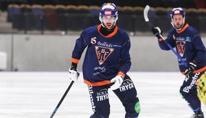 Christoffer Fagerström var aktiv och vass hela matchen, men hade inte marginalerna med sig i avsluten.