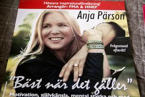 Föreläsningen med Anja Pärson i Härnösand i november var den sista jobbet för Fritz Hultgren.