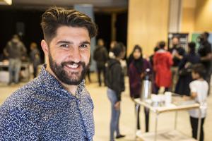 Keihan Darvishi, arrangör av jobbsökardagen för enbart Bäckbybor.