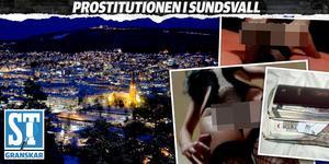 Stad i ljus. Men bakom den synliga delen av Sundsvall finns inte sällan en annan verklighet som inte alla ser. Bilder: Polisens förundersökning. Montage: Robin Brinck