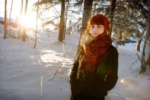 """Det blev en alternativ musikal. Sabina Wärme spelar själv huvudpersonen Sorg. """"Äntligen en huvudroll"""", säger hon och skrattar."""