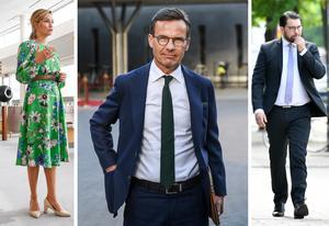 Moderatledaren Ulf Kristersson har nu valt sina lekkamrater – Ebba Busch (KD) och Jimmie Åkesson (SD).
