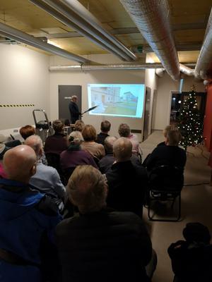 Det var många som var intresserade av Ingvar Gustafssons föreläsning på bostadsrättsföreningen Majoren