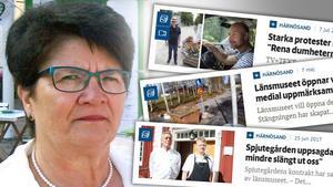 Ingrid Flodin (C) och hennes kollega Bengt Nilsson (MP) bekymras över läckorna i länsmuseets styrelse.